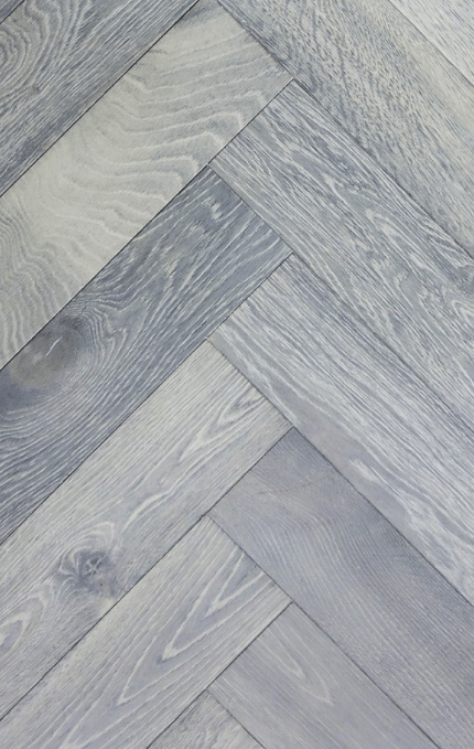 Silver White Grey Shade Herringbone Parquet