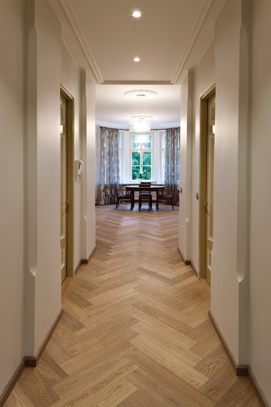 Spring Honey - Herringbone Parquet Flooring
