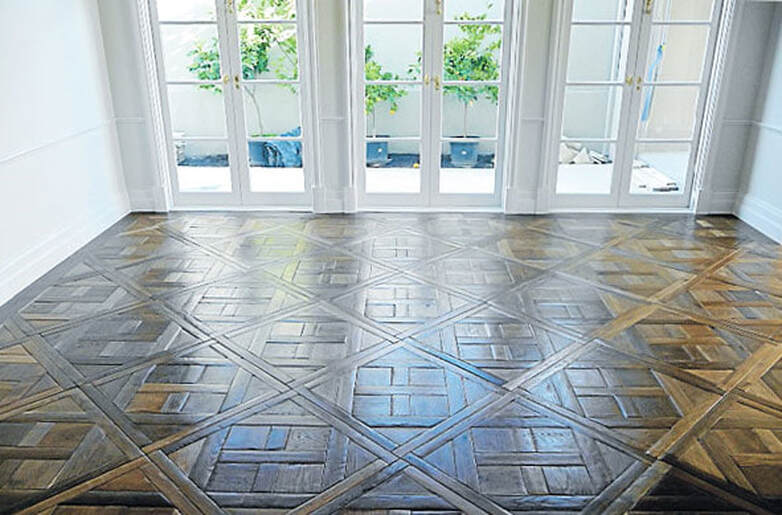 reclaimed weathered parquet