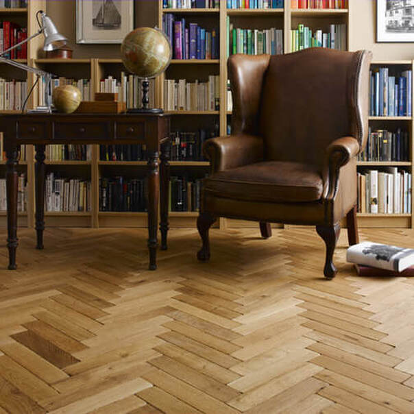 Solid oak parquet flooring