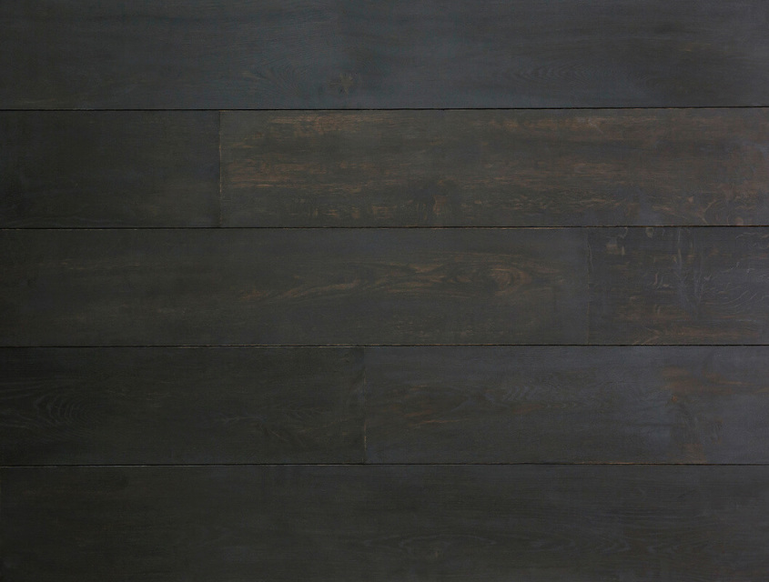 Intensive Black Solid Oak Wood Flooring