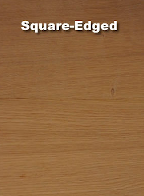 Square edged wood flooring